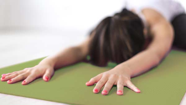 childs pose stretch yoga