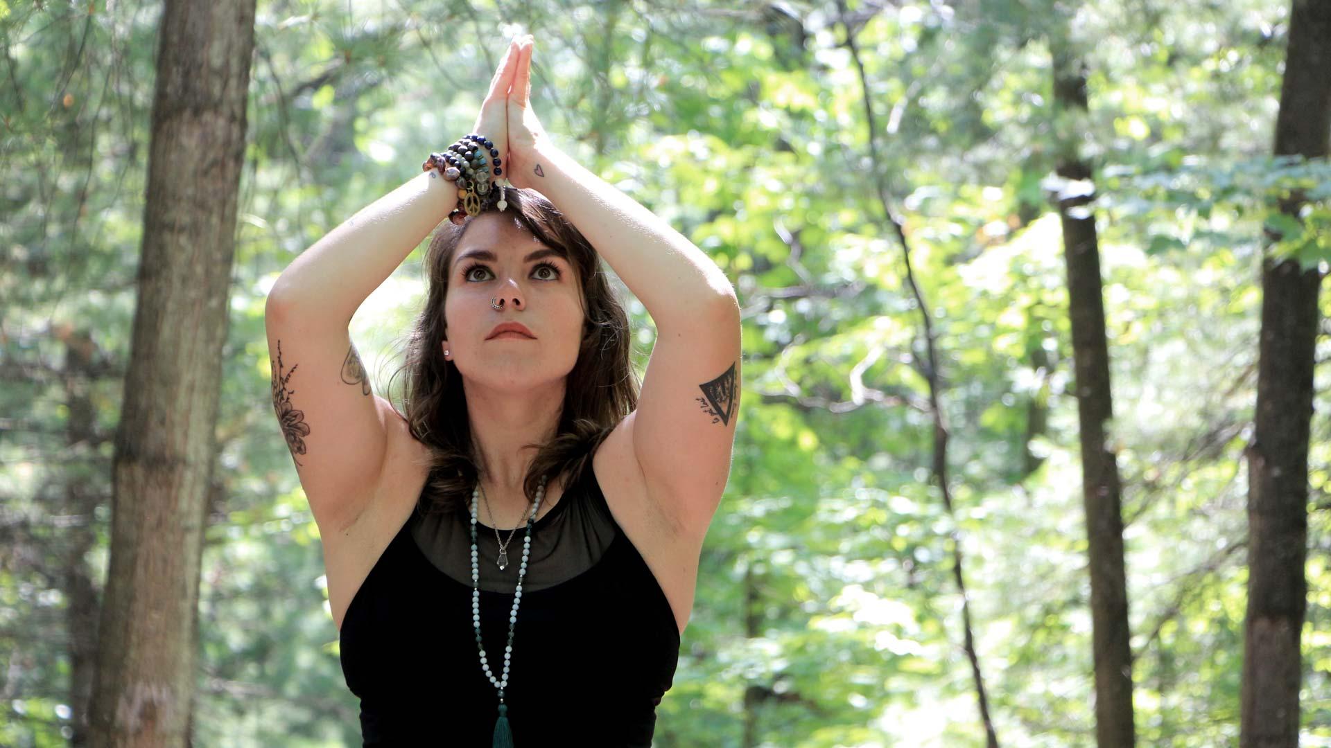 Sarah Melody yoga teachers yoga postition