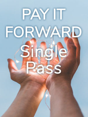 Pay it Forward Single Class Pass - making a difference